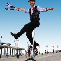 Juggler-Unicyclist-Boardwalk