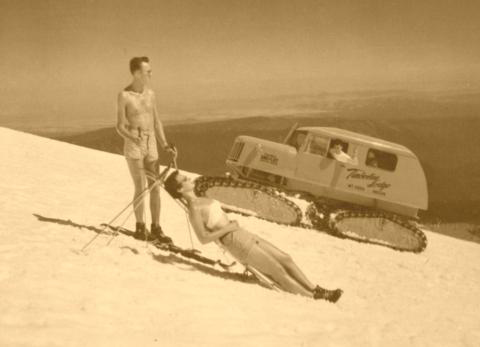 Vintage_Snow_Cat_Mt_Hood_with_Snow_Bunny