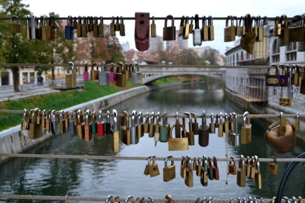 Love locks on the bridge
