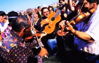 Gypsy music, dance and bears at Saintes Maries festival, Camargu