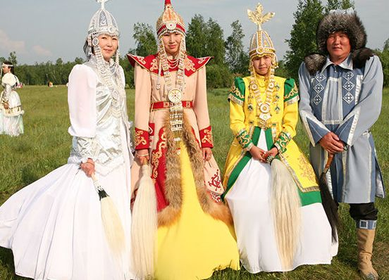 Traditional Yakut people clothes