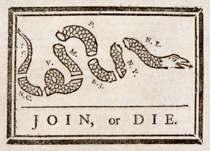 Benjamin_Franklin_-_Join_or_Die. The Pennsylvania gazette