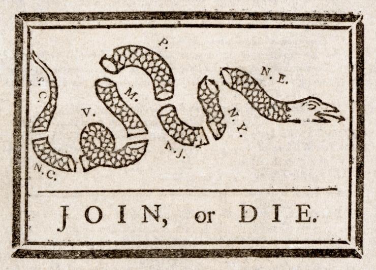 Benjamin_Franklin_-_Join_or_Die. The Pennsylvania gazette
