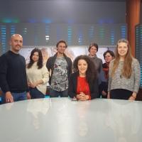 Visit in Alpha TV station