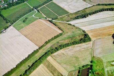 Luftbild von der ehemaligen Grenze zwischen den beiden deutschen Staaten, Mupperg