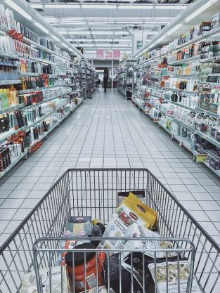 grocery-cart-with-item-1005638